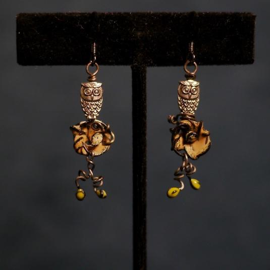 Owls Nest earrings